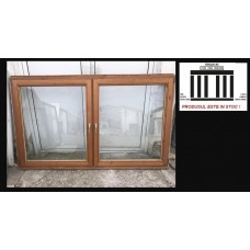 Wooden window double glazeed door H 133 x W 220