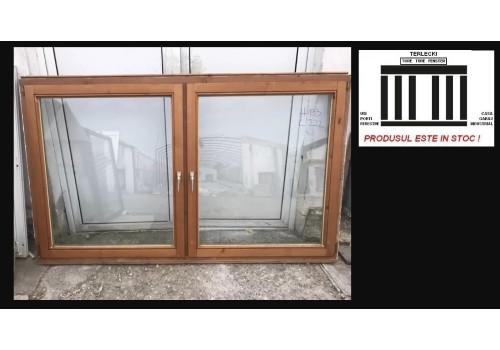 Wooden window double glazeed door H 133 x W 220