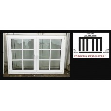 PVC Window double glazeed H 130 x W 185 cm