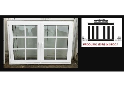 PVC Window double glazeed H 130 x W 185 cm