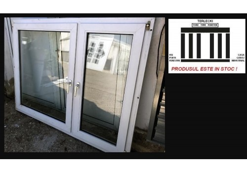 PVC Window double glazeed H 140 x W 180 cm