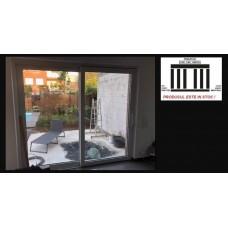 PVC Terrace door double glazeed door H 240 x W 280 cm