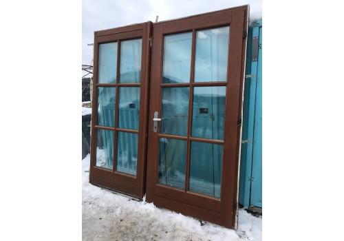 Wooden entrance double glazeed door H 224 x W 210 cm