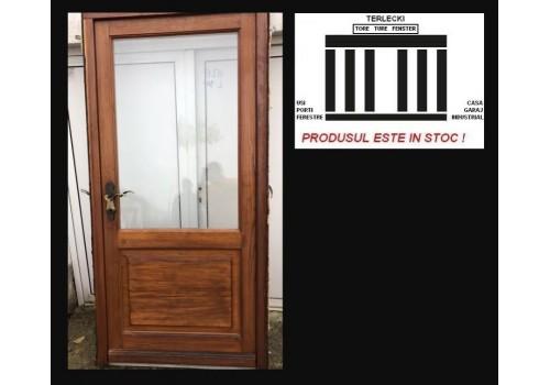 Wooden entrance double glazeed door H 209 x W 116 cm